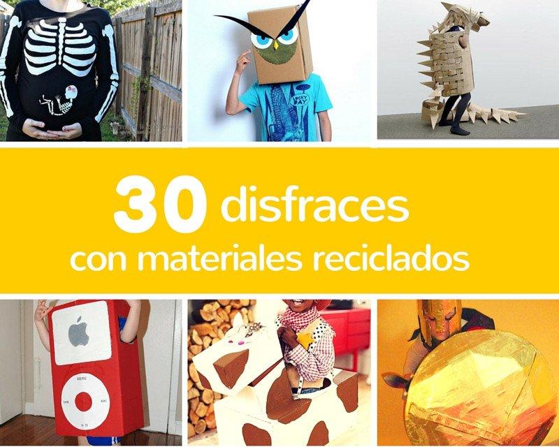 30 disfraces para carnaval caseros reciclando o reusando desechos 709af943934