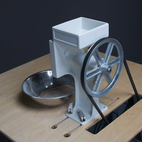 generador a pedales para moler grano