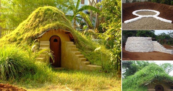 Cómo construir un domo con sacos de tierra
