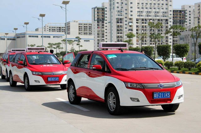 Taxis electricos china