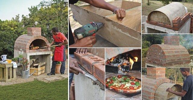 C mo hacer tu propio horno casero para pizzas - Horno de piedra casero ...