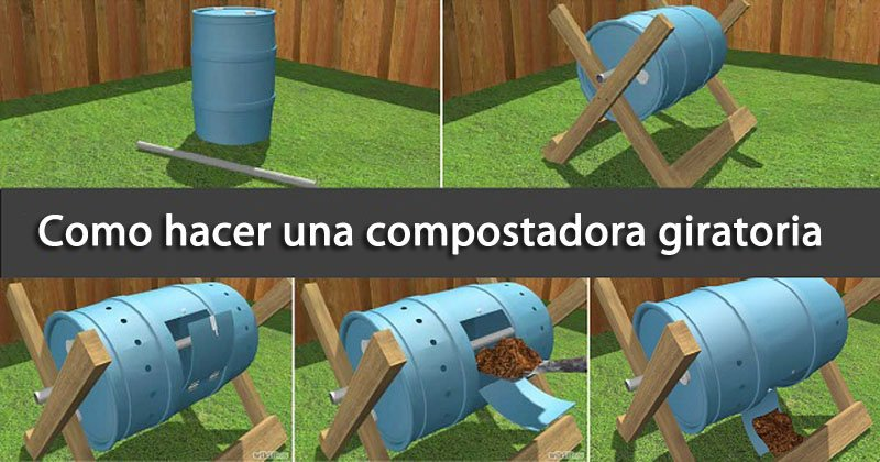 Cómo hacer una compostadora giratoria