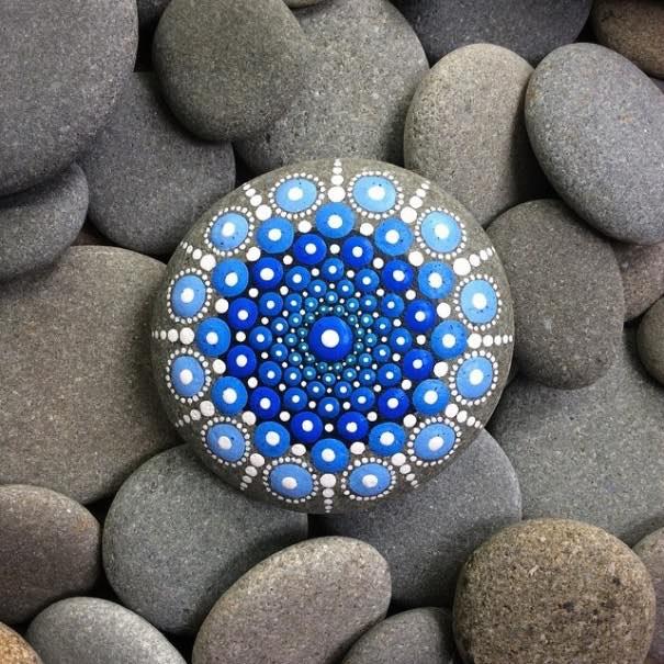 Como Pintar Piedras Para Crear Coloridos Mandalas - Dibujos-para-pintar-piedras