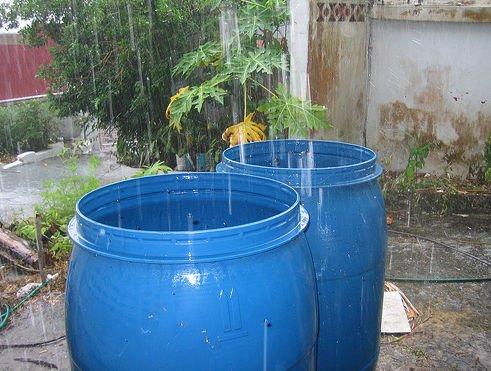 Recogida de agua de lluvia