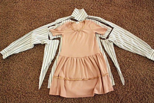 Cómo Convertir Camisas De Papa En Vestidos De Niña