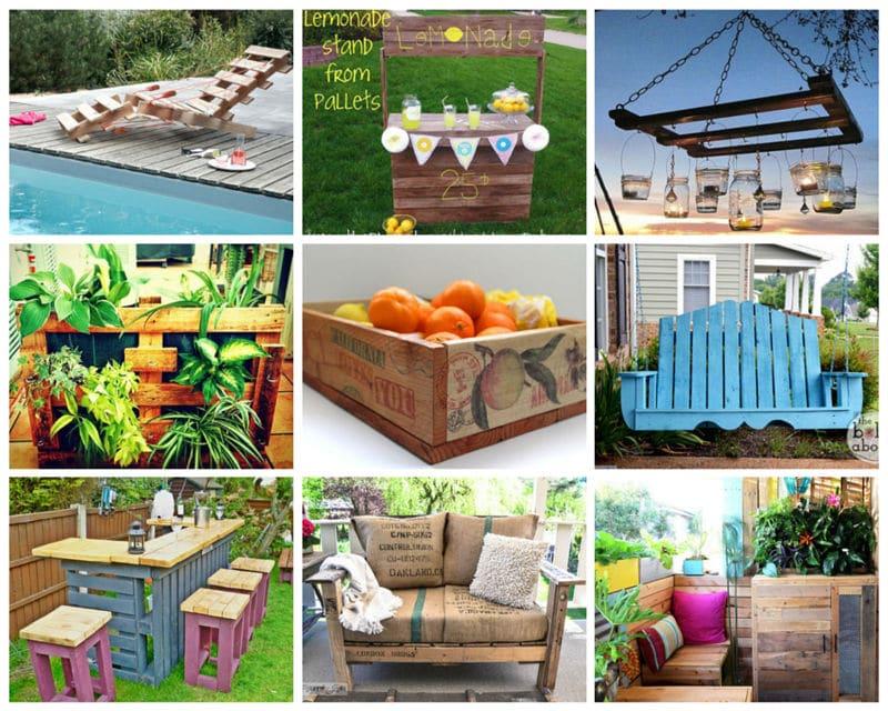 Ideas originales para reusar palets en el jardín