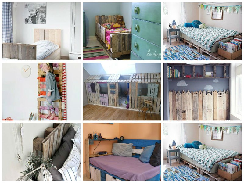 Ideas originales para decorar dormitorios con palets - Ideas originales para decorar paredes ...