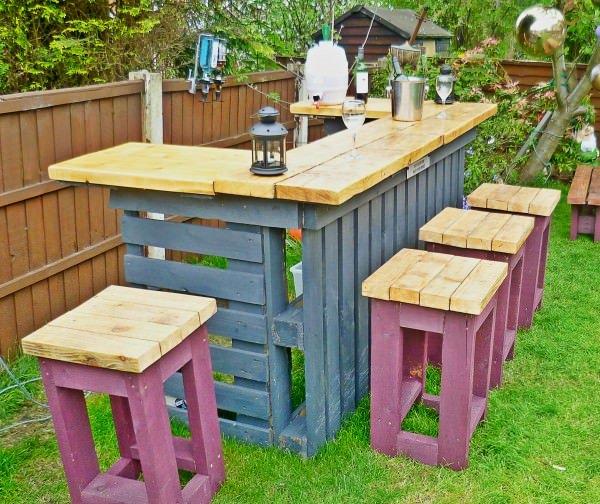 Bar en jardin