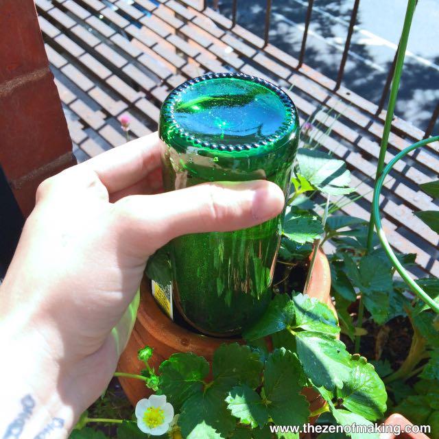 Como usar una botella de vidrio como sistema de regadío autónomo 5