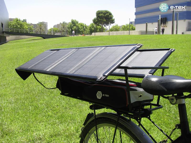 eWings - Detalle bici y panel solar