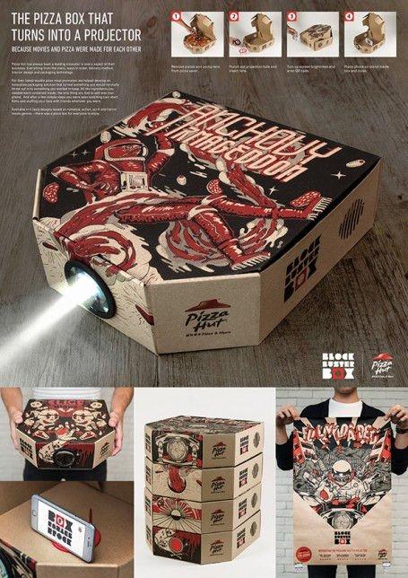 proyector caja de pizza