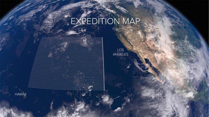 theoceancleanup mapa de la expedición
