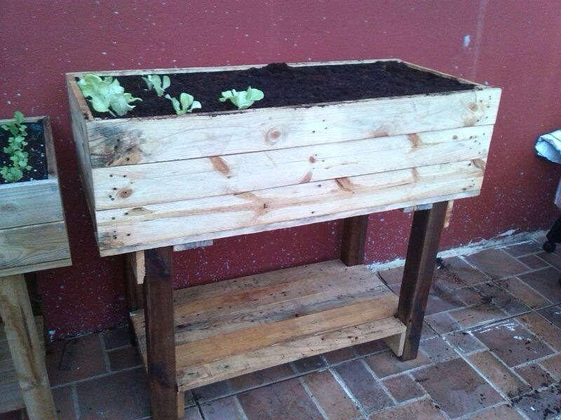 Como hacer una mesa de cultivo con palets (2)