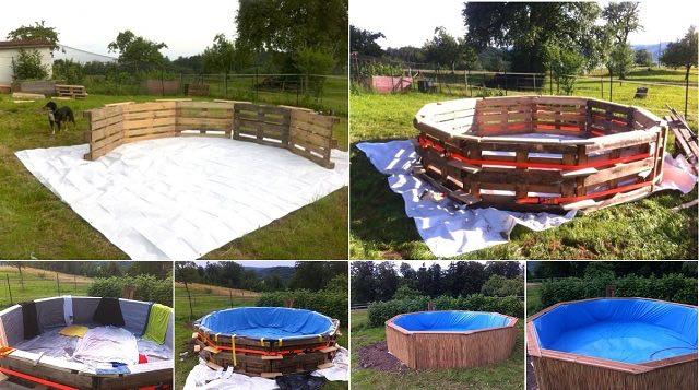 C mo hacer una piscina con 10 palets for Como se construye una piscina de concreto