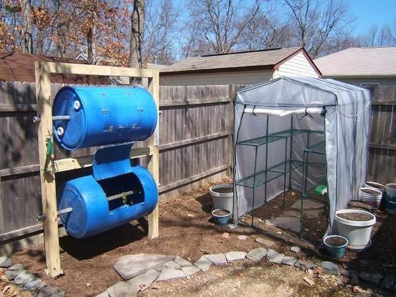 Cómo hacer un compostador de dos pisos con bidones