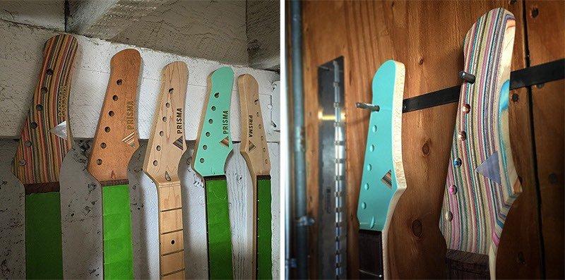 Guitarras hechas con tablas de patinar recicladas7