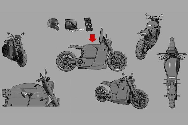 Tesla Model M motocicleta electrica