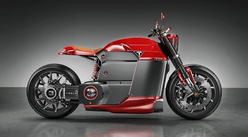 Tesla Model M. Así sería la motocicleta eléctrica de Tesla