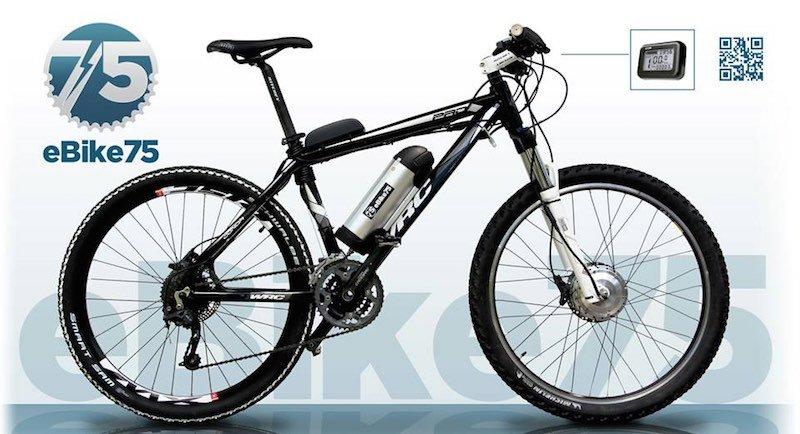 Ebike 75, sistema para transformar cualquier bici en eléctrica