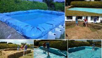 Cómo construir una piscina con balas de paja