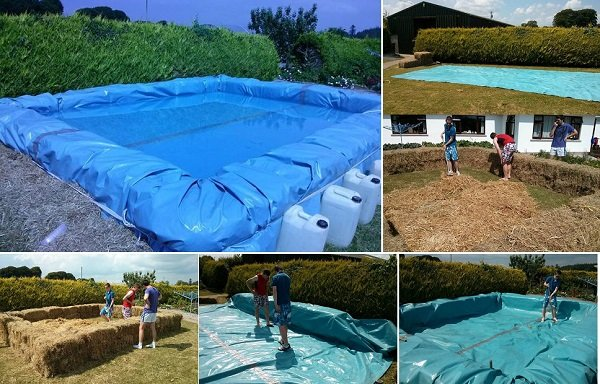 C mo construir una piscina con balas de paja - Construir una piscina ...