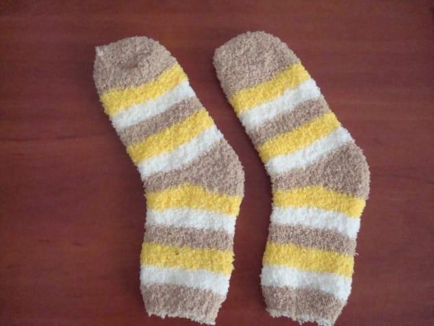 Como hacer un lindo gatito con un calcetín2