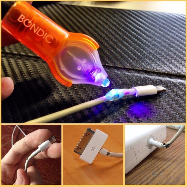 Bondic, el primer soldador de plástico líquido que se endurece bajo luz ultravioleta