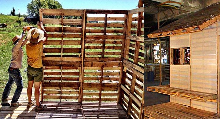 Como hacer una casa con palets for Como hacer una valla con palets