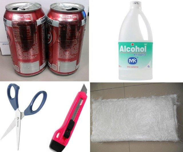 Materiales para hacer una estufa de alcohol