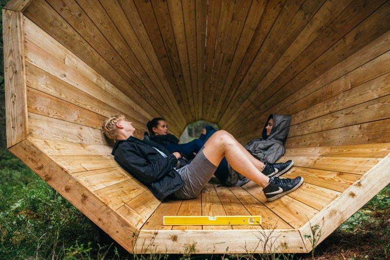 Gigantescos altavoces de madera 1