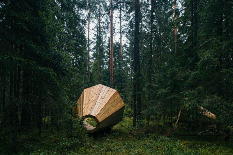 Gigantescos altavoces de madera 3