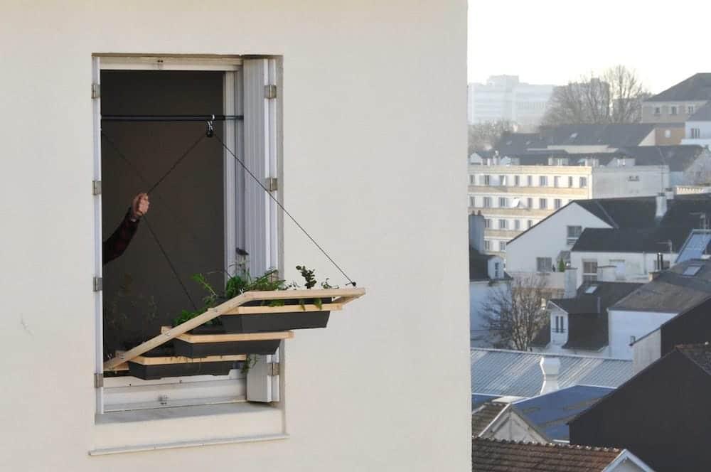 Jardin vertical para ventanas