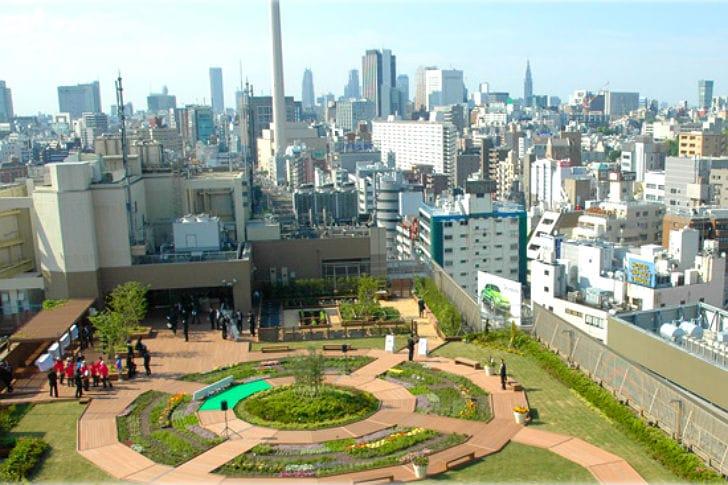 Tokio transforma las azoteas de las estaciones de tren en huertos