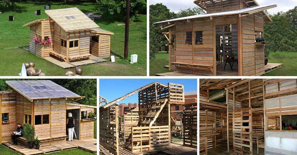 C mo construir una casa con palets en un s lo d a - Ideas para hacer una casa ...