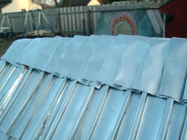 Como hacer tejas con latas de aluminio