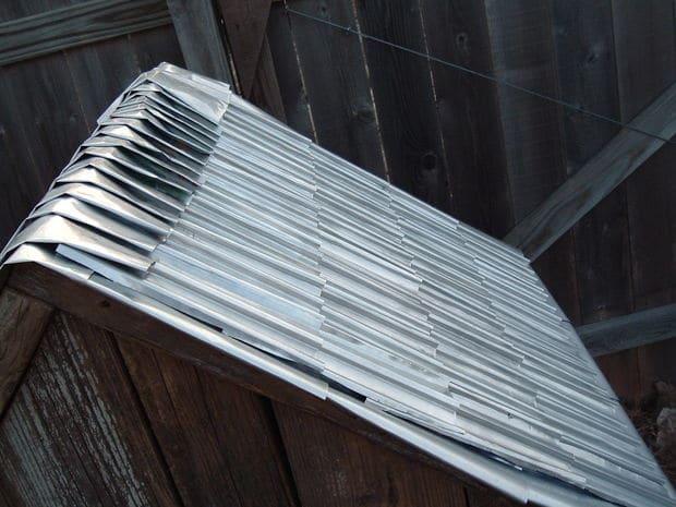 Como hacer tejas con latas de aluminio1