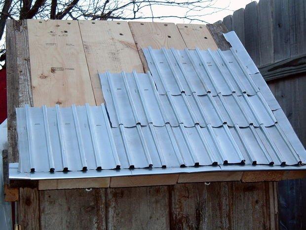 Como hacer tejas con latas de aluminio4