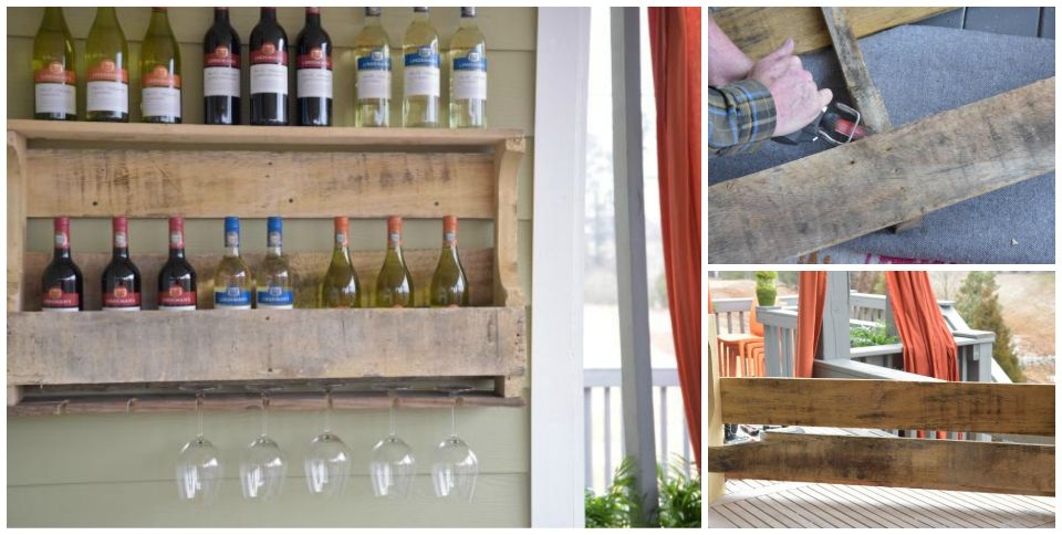 Como hacer una estanter a para vinos con un palet - Estanterias para botellas ...