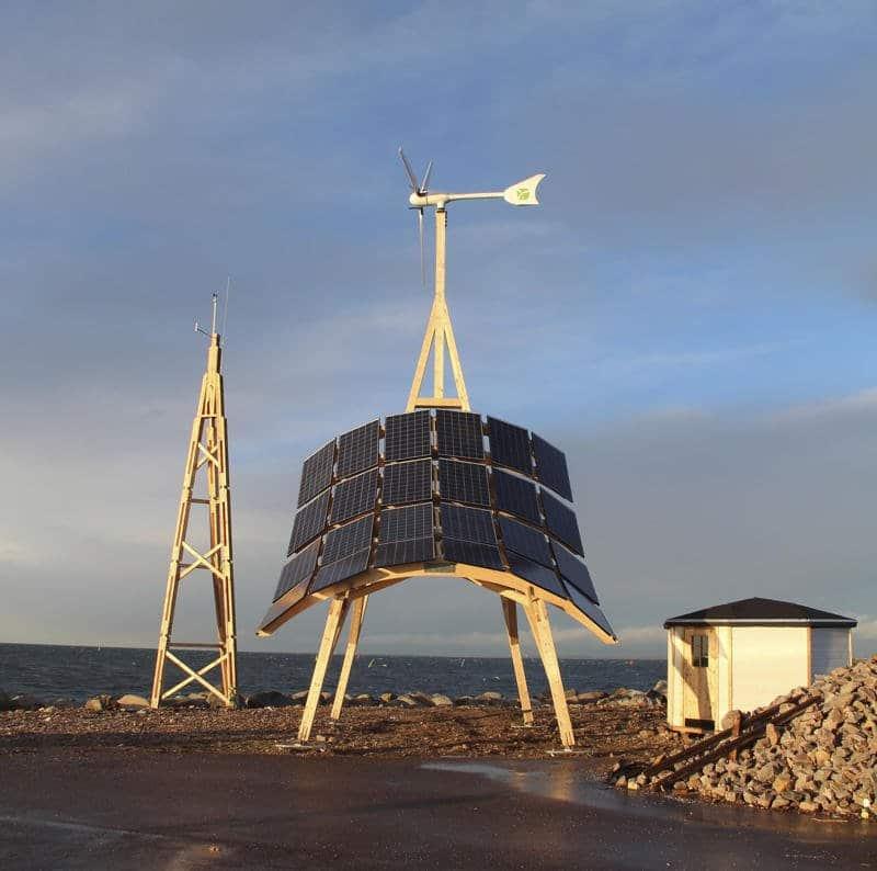 Giraffe 2.0. Estación de generación híbrida que proporciona energía renovable 24 h al día