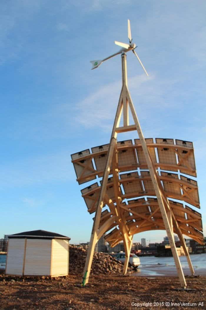 Giraffe 2.0. Estación de generación híbrida que proporciona energía renovable 24 horas al día