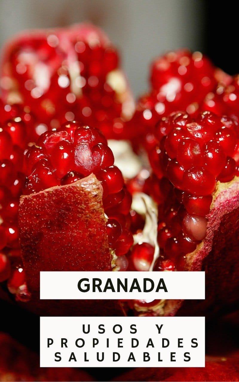 Granada, propiedades y beneficios para la salud