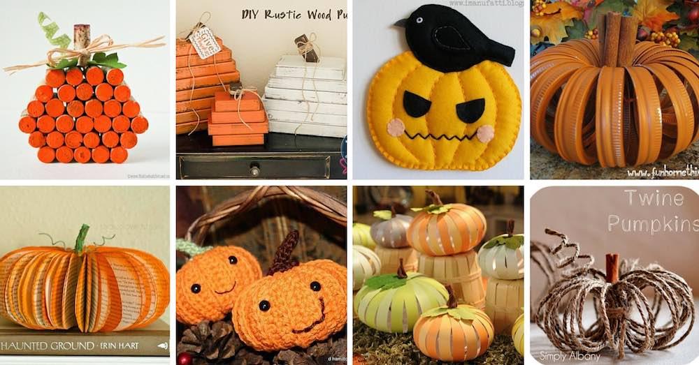 ideas para hacer calabazas de halloween con objetos reciclados