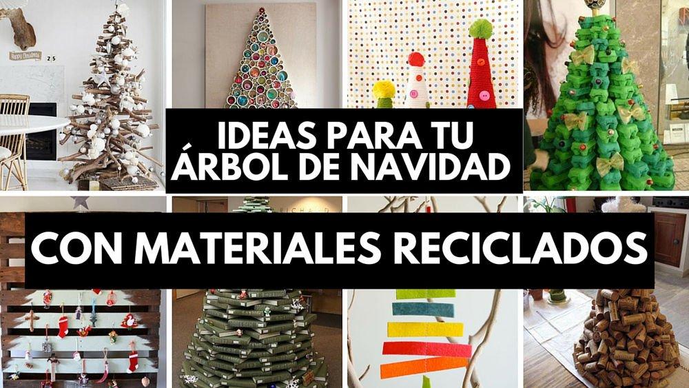 e341ab883ef 31 ideas para tu árbol de navidad con materiales reciclados