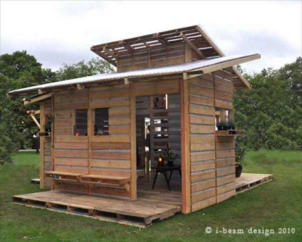 Como Construir Una Casa Con Palets En Un Solo Dia