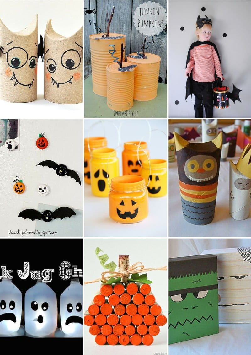 Manualidades recicladas Halloween