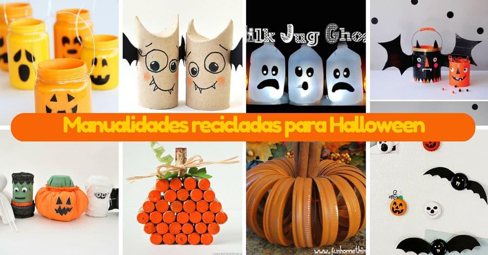 14 manualidades recicladas para halloween - Decorar calabazas para halloween infantiles ...