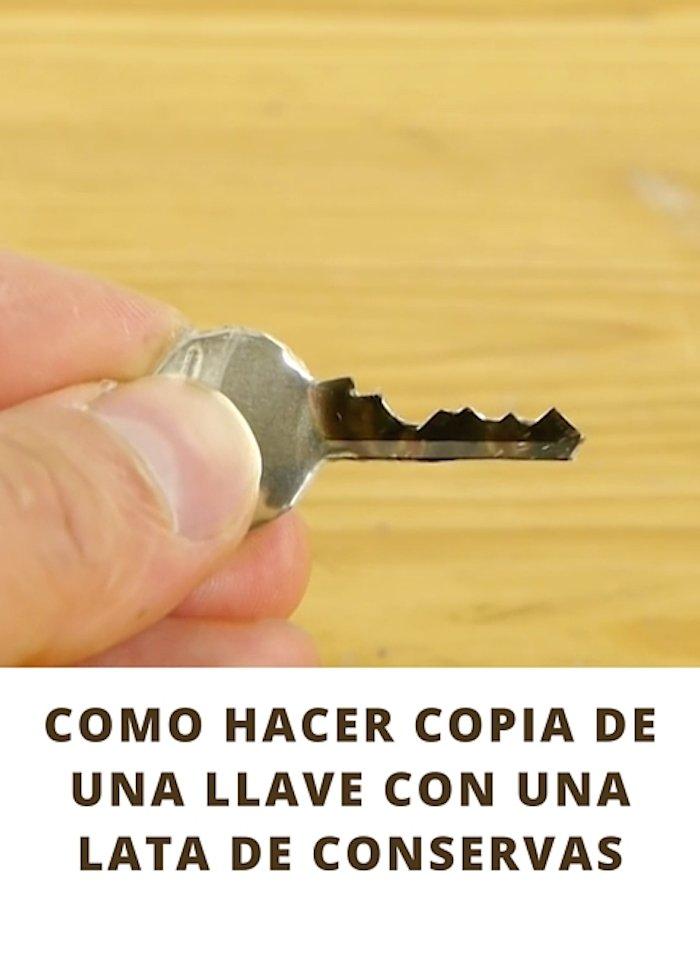 Cómo hacer copia de una llave con una lata de conservas