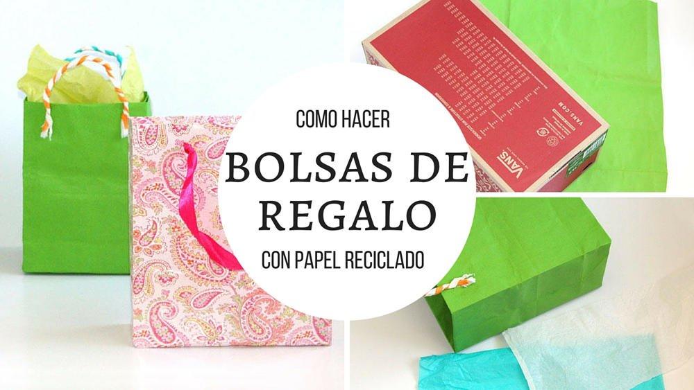 La forma mas r pida de hacer bolsas de regalo con papel - Hacer bolsas de papel para regalo ...