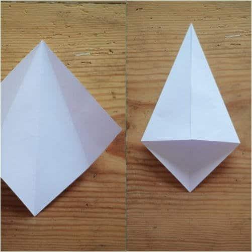 Como hacer estrellas con papel reciclado2