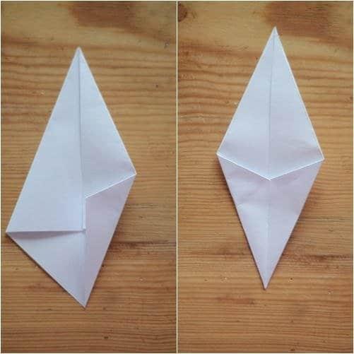 Como hacer estrellas con papel reciclado3